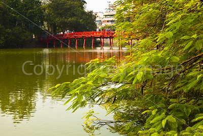 Bridge on Hoan Kiem Lake