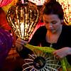 Lady making lanterns in Hoi An
