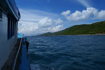 At sea off Na Trang, Vietnam