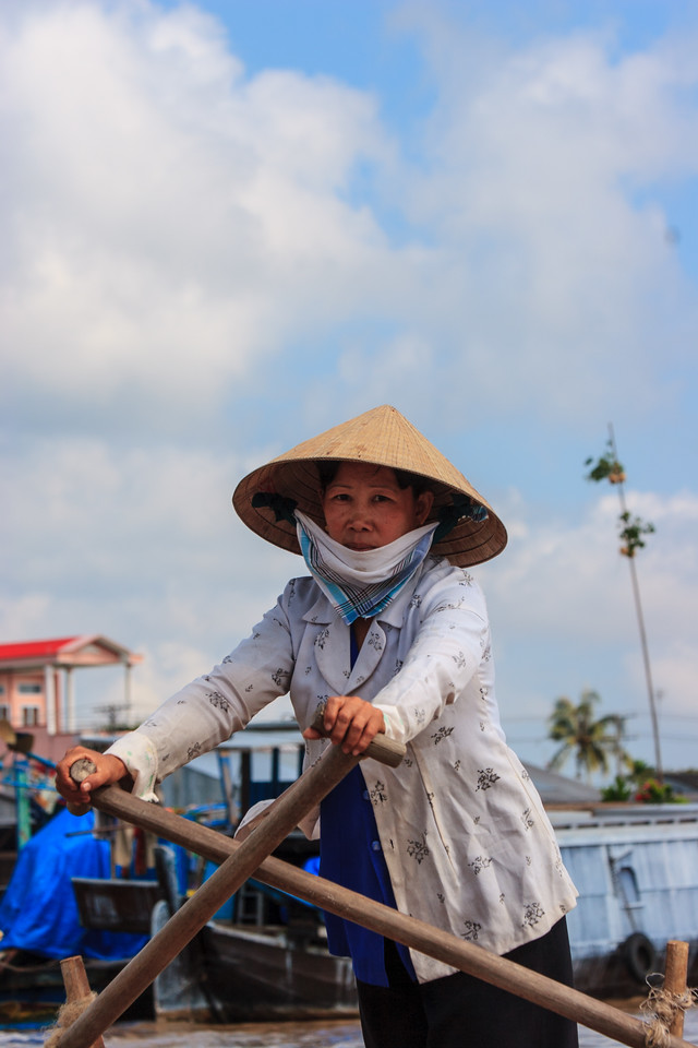Floating market on the Mekong river