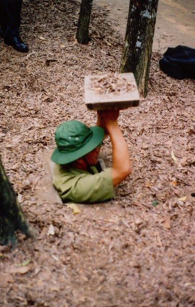 The original tunnels at Cu Chi were much smaller.