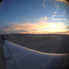 Bird's eye view of he sunset over my wing
