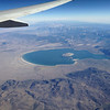 Mono Lake under my wing - SFO-DFW