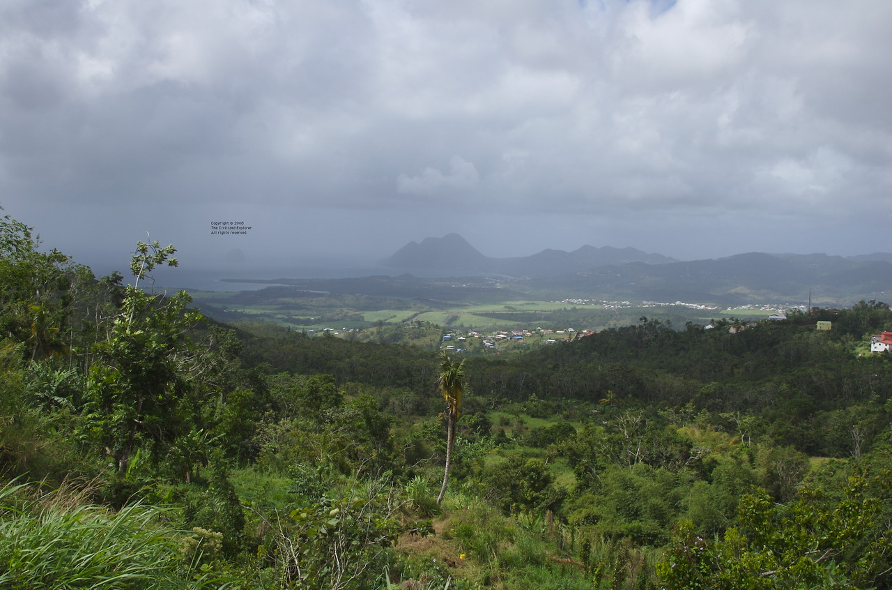 A view toward Anse Cafard.