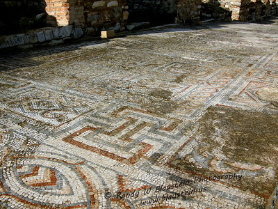 Mosaic tile floor from Ephesus terrace house