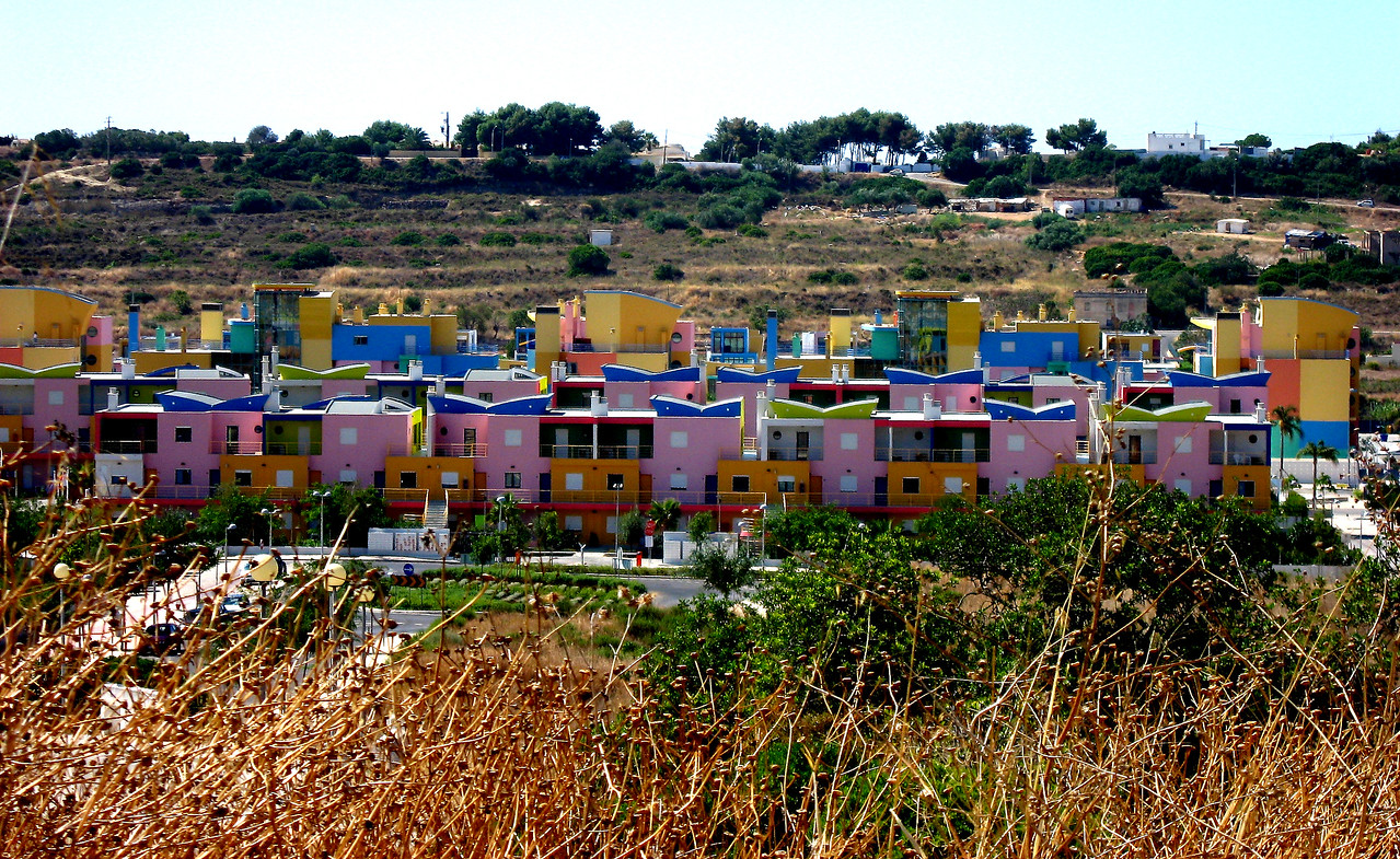 Colourful Town on the way to Albufeira, Portugal