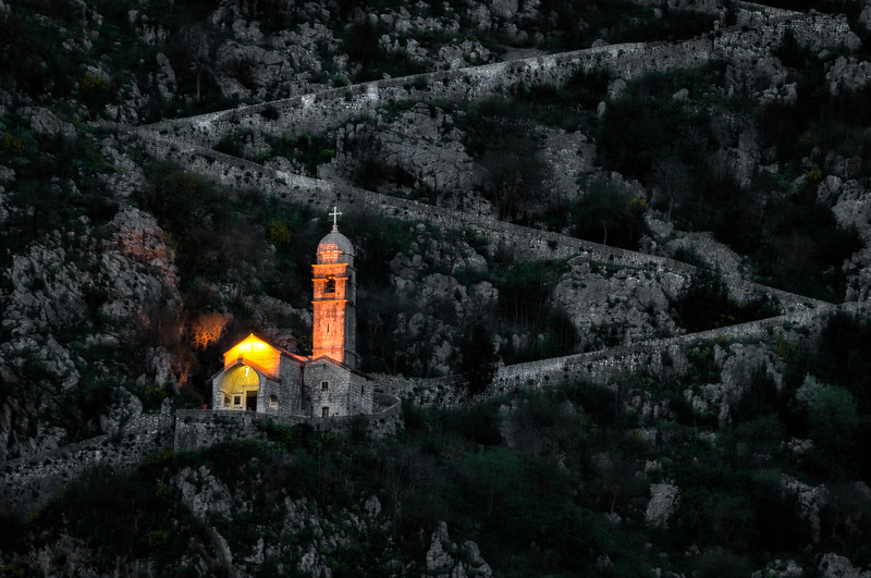 Church on the Ramparts in Kotor, Montenegro