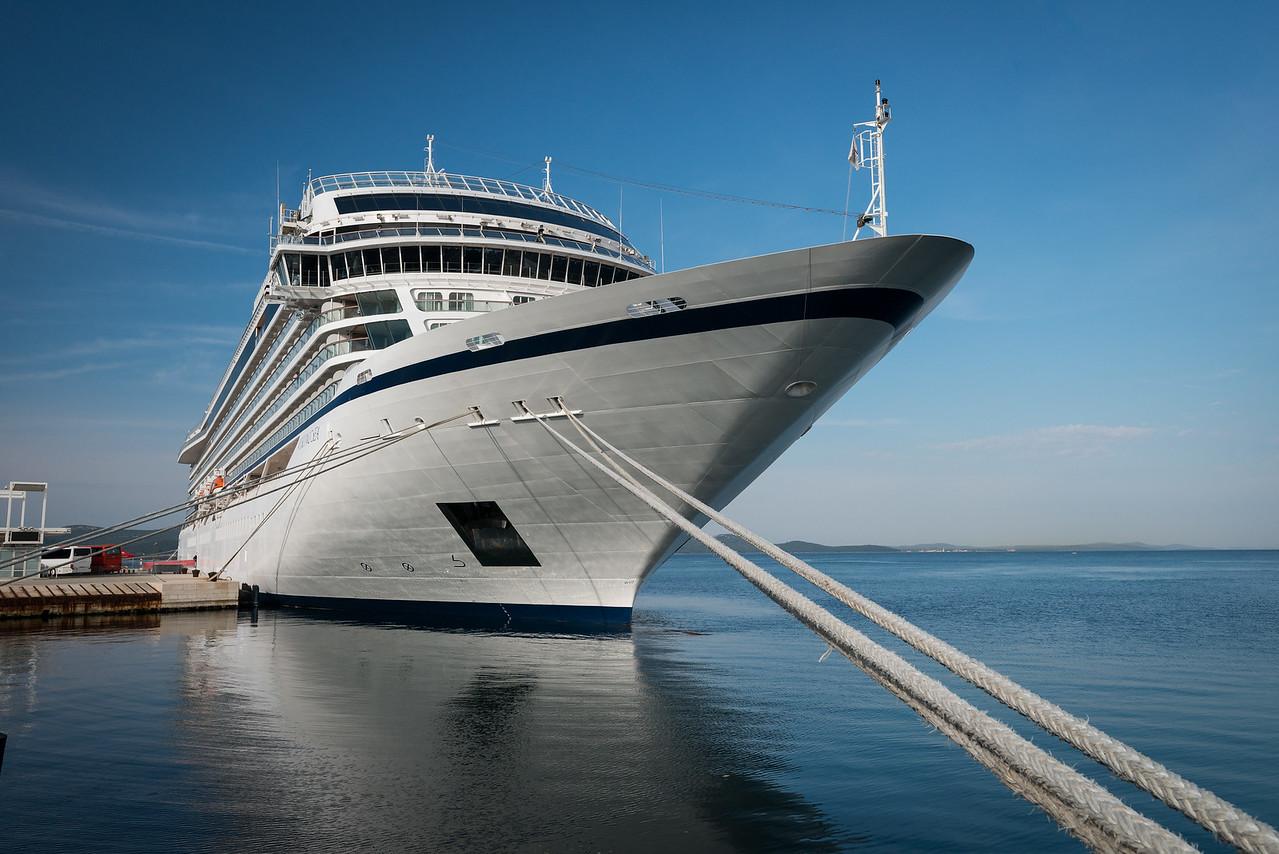 Viking Sea in port at Zadar, Croatia