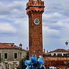 Tower in Murano with glass sculpture