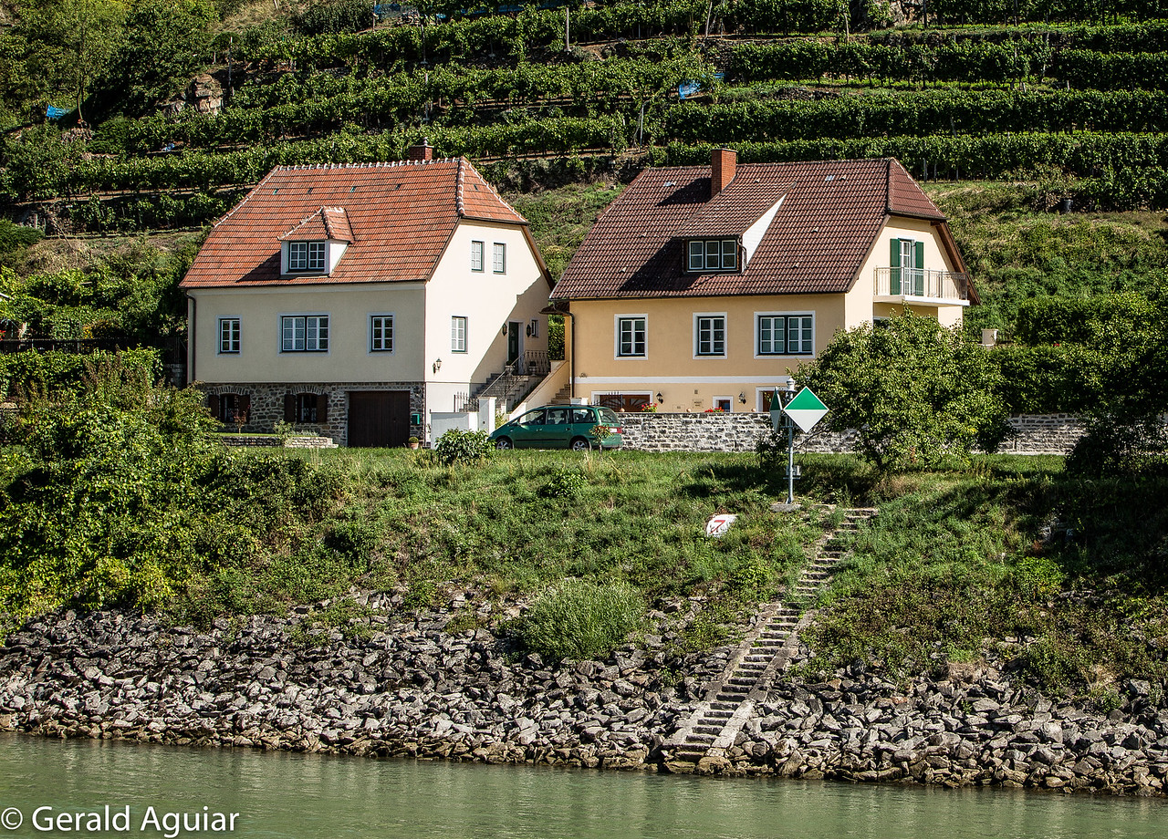Homes on the Banks of the Danube