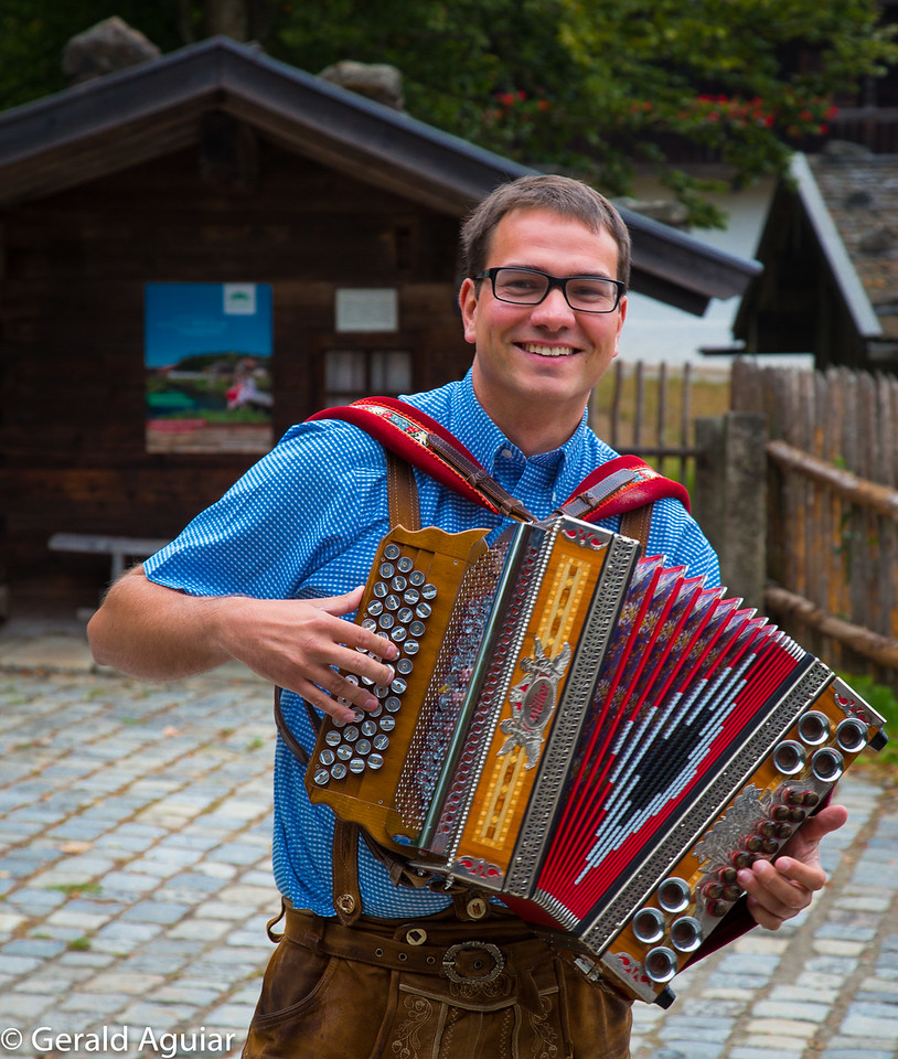 Greeter at Authentic Bavarian Village
