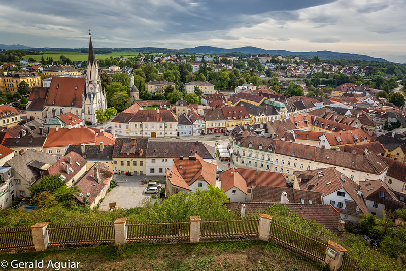 Melk Village Viewed from the Abbey