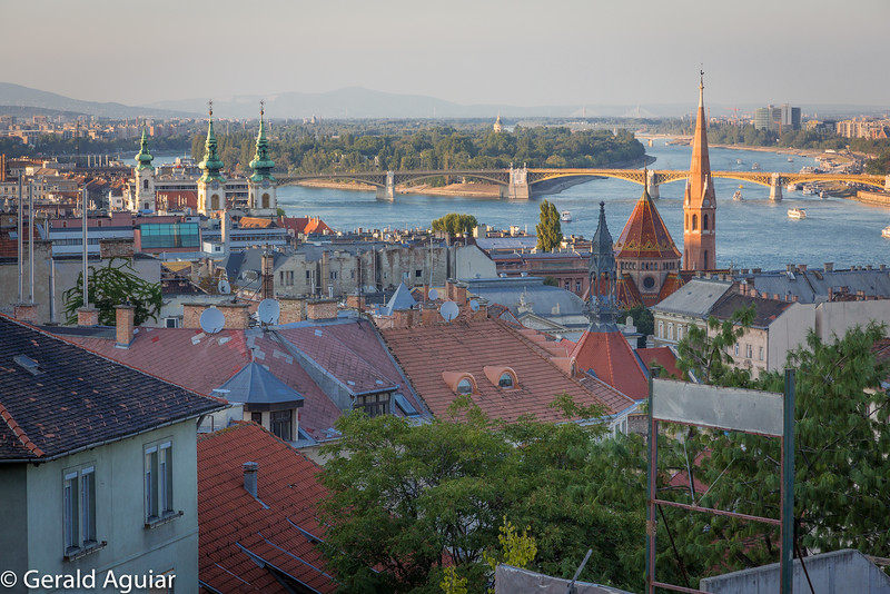 Danube River View From Buda Hill