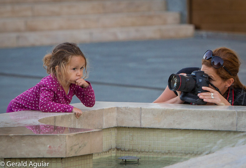 Photographing One's Daughter near Matthias Church.