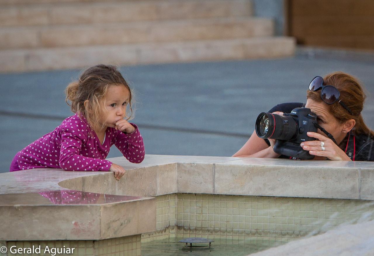 Photographing One's Daughter near Matthias Church.