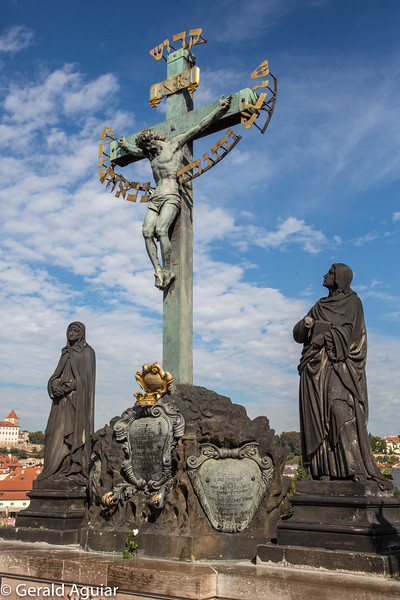 Statue of the Holy Crucifix and Calvary - Charles Bridge