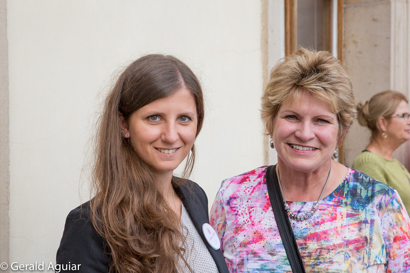 Jenny and our tour guide of Lobkowicz Palace