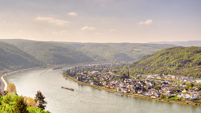 River Bend On The Rhine