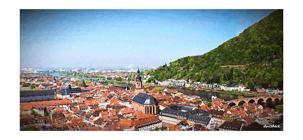 View Of Heidelberg- in Renoir Style