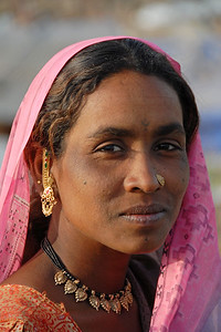 Women at the village near Nagpur, Maharashtra, India
