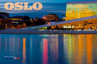 Oslo Norway Travel Poster