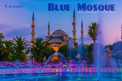 Blue Mosque (Istanbul) Travel Poster
