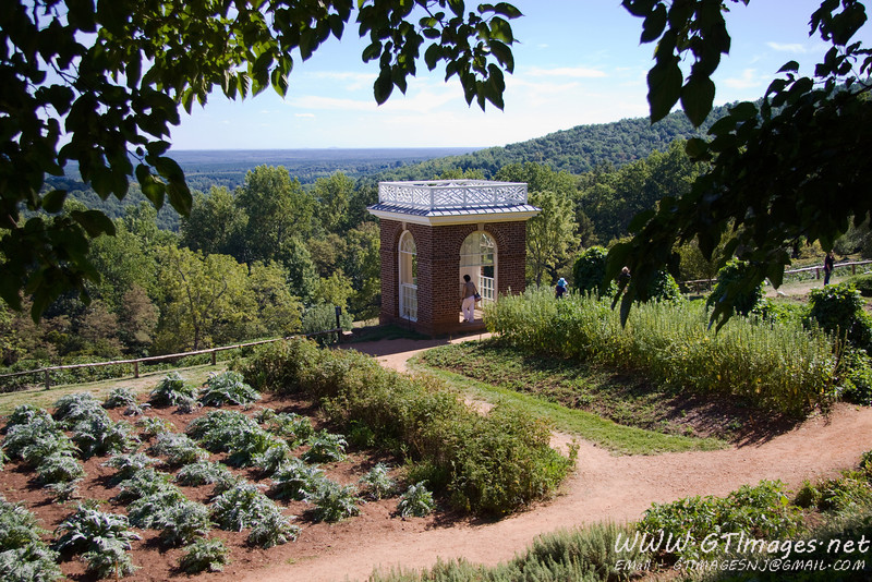 The gardens at Monticello.