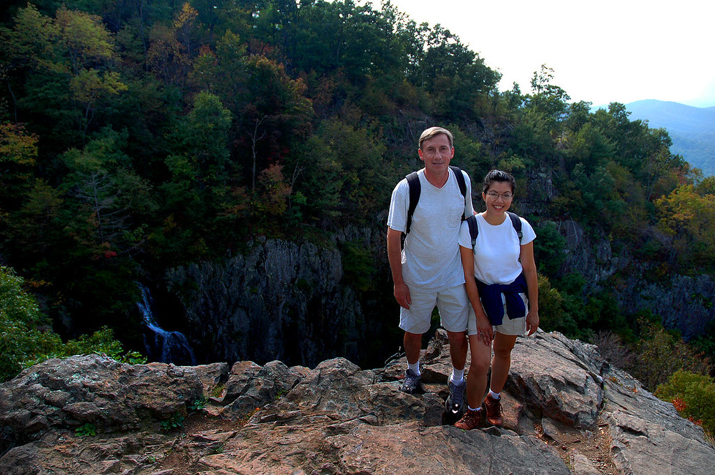 Thao and I above the Big Falls before starting the hike out.