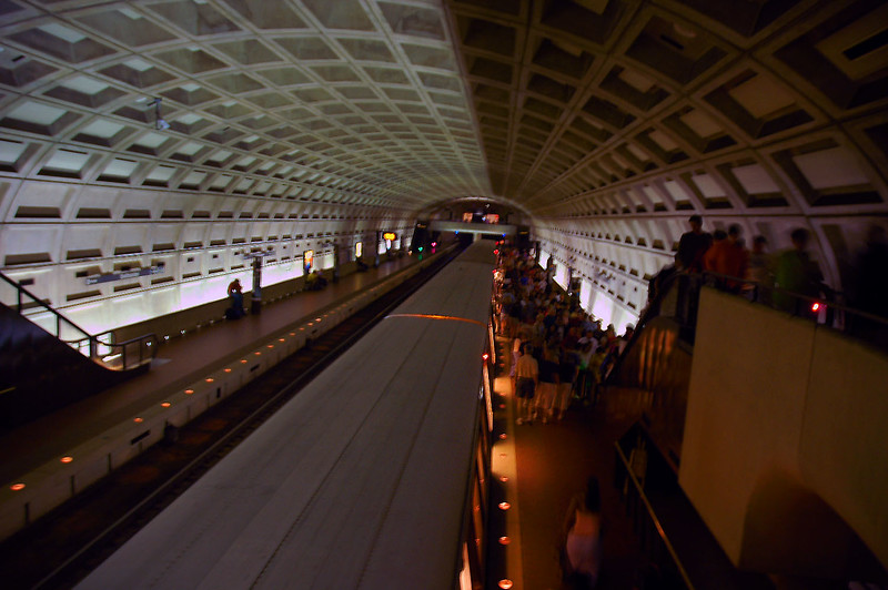 At the DC Metro station. We only had a few hours to look around before I needed to start heading for the airport.