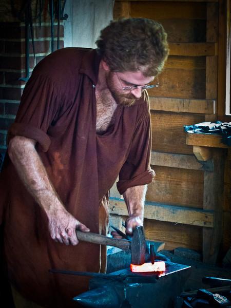 Blacksmith at Mount Vernon