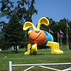 "Cute Bug at Entrance to American Celebration on Parade - Shenandoah Caverns - Quicksburg, VA<br /> Reminded me of a game I had as a child called ""Cootie."""