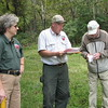 Lessane Chestnut Forest - Our Tour Leaders and An Elderly Gentleman That Had Chestnut Seeds to Share from His Trees