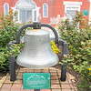 Old City Hall Bell - Town of Suffolk, VA  4-9-11<br /> This bell was part of the old City Hall constructed in 1891 on Main Street near this site.  The City Hall Building had two spires.  The southern spire had a four faced clock that was operated by a system of counter weights.  This bell was struck as a part of the clock mechanism to sound the hour and half-hour of each day until the City Hall Building was demolished in 1962.