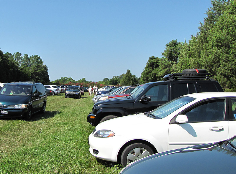We Realized After We Arrived That It Was a Major Event - Berkeley Plantation, Charles City, Virginia  7-27-11<br /> Although we arrived an hour ahead of time, we parked a half mile away from the actual release site.