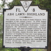 Signage About Ash Lawn Highland - James Monroe's Home - Charlottesville, VA  9-3-10