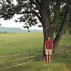 Ben at the Tree With a View - Ash Lawn Highland - James Monroe's Home - Charlottesville, VA  9-3-10