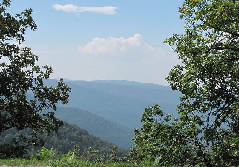 View at Greenstone Overlook - Milepost 9 Blue Ridge Parkway  9-3-10