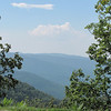 View at Greenstone Overlook - Milepost 9 Blue Ridge Parkway  9-3-10