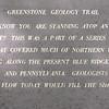 Geology Signage at Greenstone Overlook Trail - Milepost 9 Blue Ridge Parkway  9-3-10