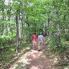 The Wonders of God's Creation - Ben and Randal on Greenstone Overlook Trail - Milepost 9 Blue Ridge Parkway  9-3-10