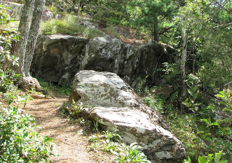 Rock Formations Everywhere Along Greenstone Overlook Trail - Milepost 9 Blue Ridge Parkway  9-3-10