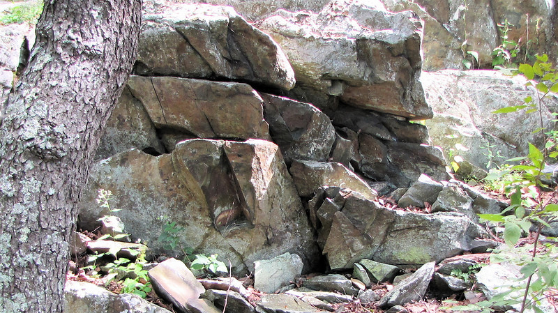 Rocks on Greenstone Overlook Trail - Milepost 9 Blue Ridge Parkway  9-3-10