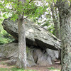 Balancing Rock at Greenstone Overlook - Milepost 9 Blue Ridge Parkway  9-3-10