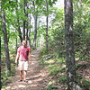 Ben on the Greenstone Overlook Trail - Milepost 9 Blue Ridge Parkway  9-3-10
