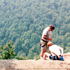 Ravens Roost - Repellers Getting Ready to Go Off the Edge - Blue Ridge Parkway  8-25-01