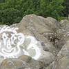Graffiti on Rocks - How Awful - Ravens Roost - Blue Ridge Parkway  9-3-10