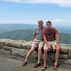 Randal and Ben at Ravens Roost - Blue Ridge Parkway  9-3-10