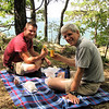 Ben and Randal - My Birthday Lunch - Sandwiches From Ambrosia Cafe Eaten at Ravens Roost - Blue Ridge Parkway  9-3-10