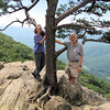 Windblown Donna and Randal at Ravens Roost - Blue Ridge Parkway  9-3-10
