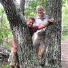 Ben and Randal Photo Break - Greenstone Overlook Trail - Milepost 9 Blue Ridge Parkway  9-3-10
